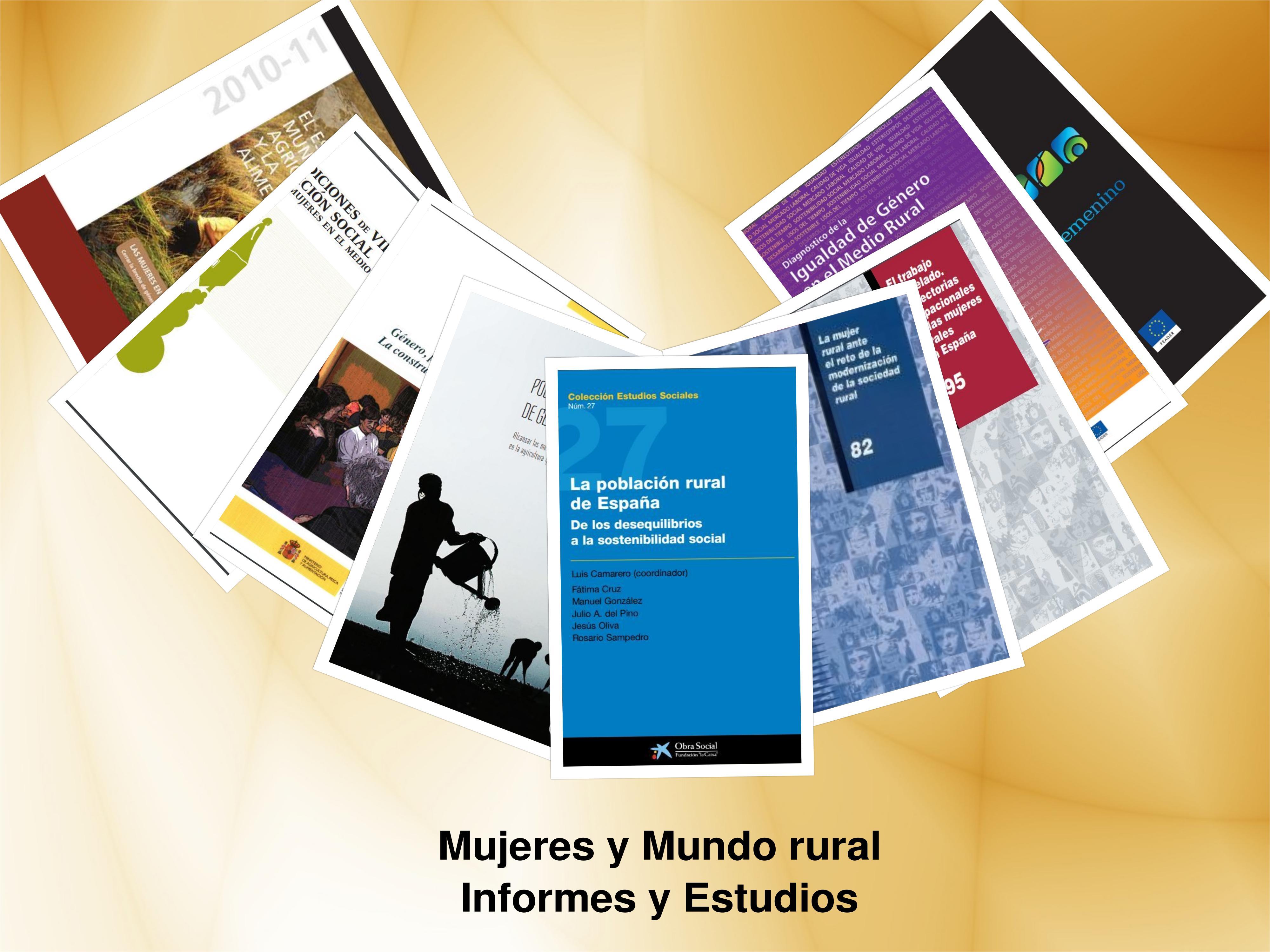 e30edafde Recopilación de informes y estudios que abordan los desequilibrios que se  producen en la población rural, las condiciones de vida y la posición  social que ...